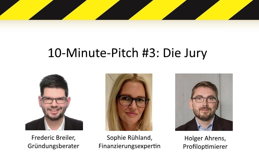 Die Jury für unseren 10-Minute-Pitch am 16.11.2016
