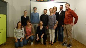Teilnehmer und Jury beim Pitch #5