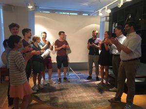 Teilnehmer und Jury des .garage 10-Minute-Pitch #8
